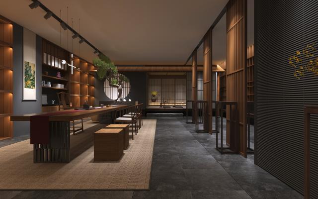 新中式工装茶室 产品展示区
