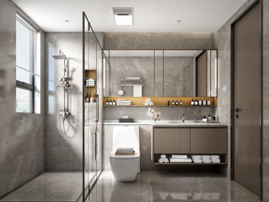 现代卫生间 卫浴