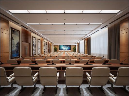 现代风格会议室 办公室