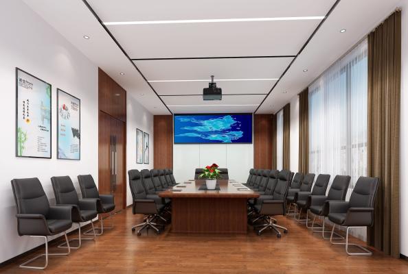 现代轻奢风格会议室