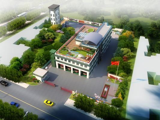 现代建筑鸟瞰规划