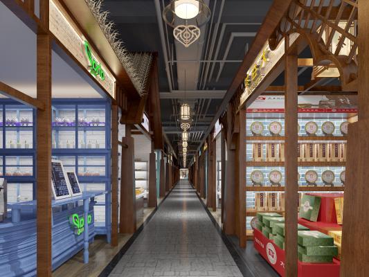 东南亚风格口岸店铺 商店