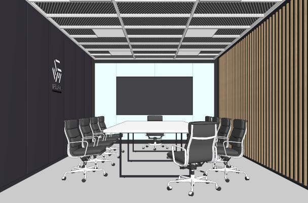 现代小会议室 会议桌椅