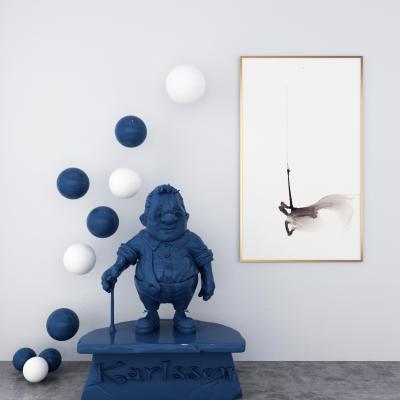 现代卡通人物雕塑摆件