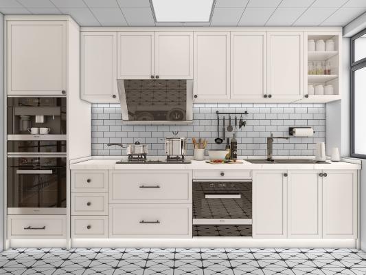 现代整体橱柜 电器 厨房用品