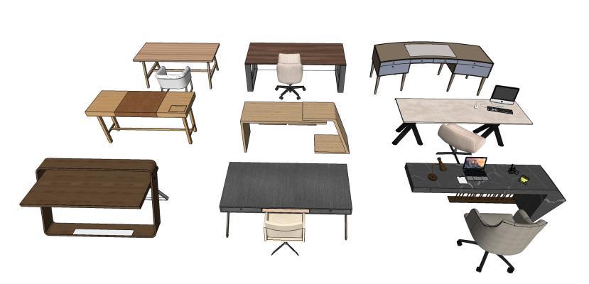 现代办公桌椅 书桌