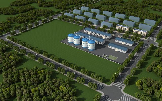 现代风格工业厂房 彩钢瓦 厂区规划