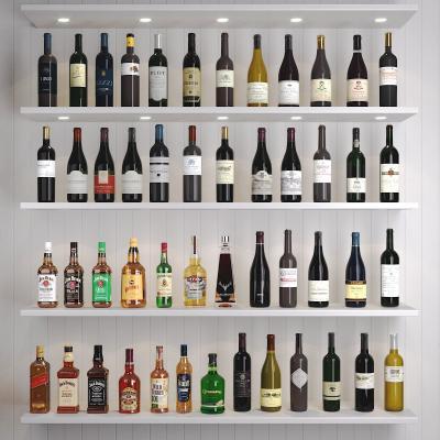现代洋酒 酒瓶组合