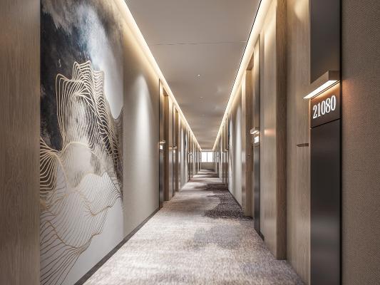 新中式酒店過道