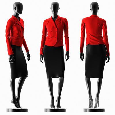 现代模特服装