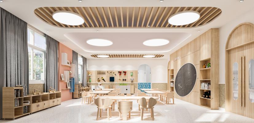现代风格幼儿园 美工室