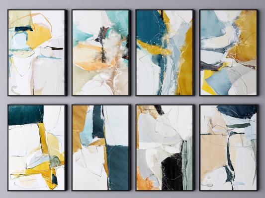 现代挂画 艺术画 抽象画