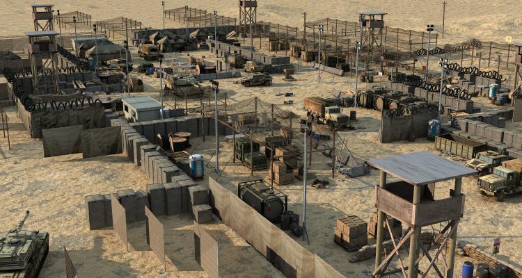 现代战场 军事基地 练兵场