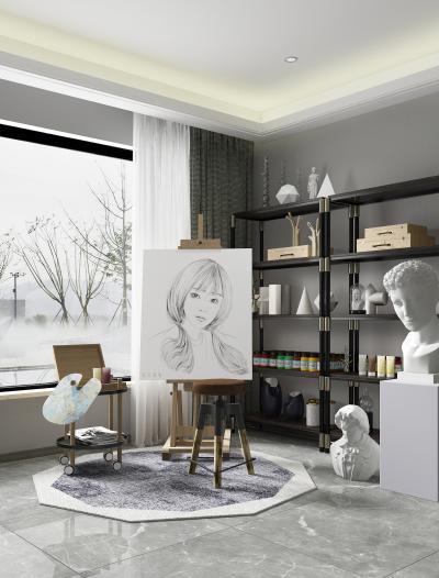 现代风格画室