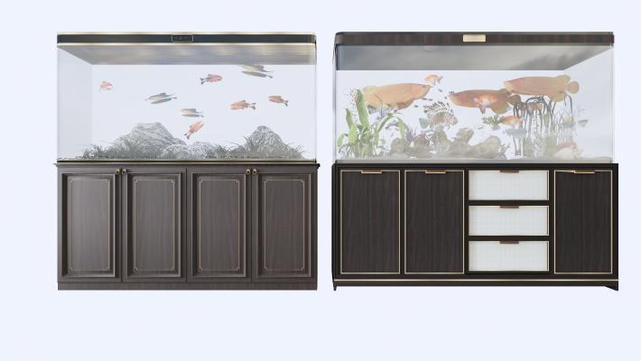 新中式 鱼缸