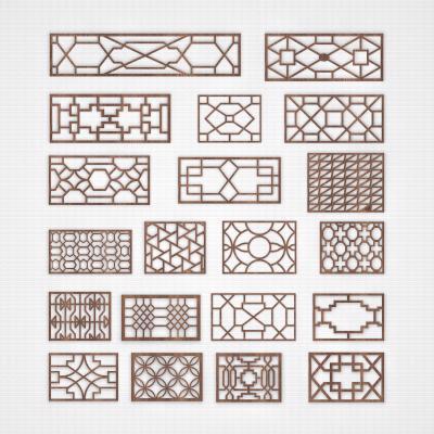 中式窗花 窗饰 窗格