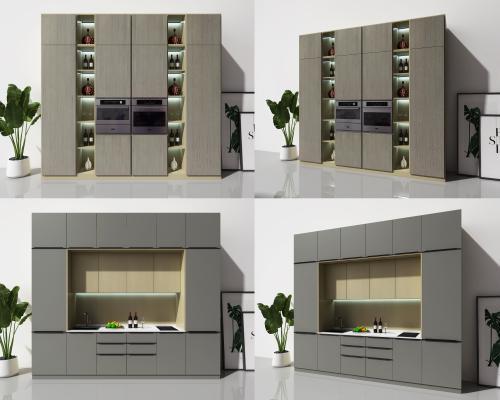 现代电器柜橱柜组合