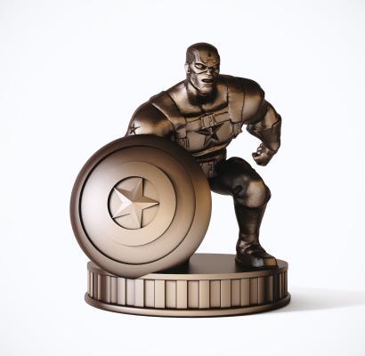 现代美国队长雕塑 装饰摆件 复仇者联盟