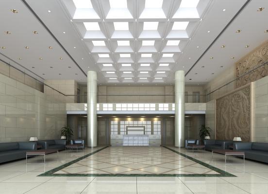 现代办公楼大厅