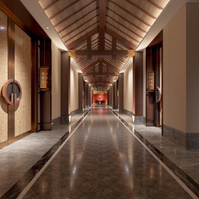 新中式酒店会所 走廊过道