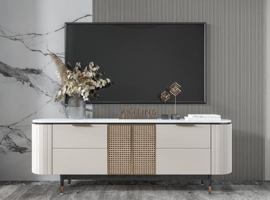 现代电视柜 雕塑 装饰柜 边柜 矮柜 餐边柜 装饰品 花瓶