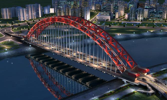 现代桥梁 大桥 景观桥