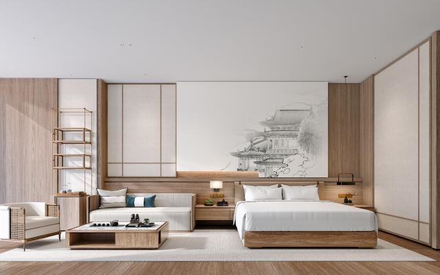 新中式酒店客房