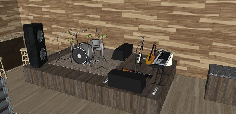 乐器 乐器组合 音响 架子鼓 吉他 电子琴
