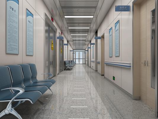现代医院过道 CT