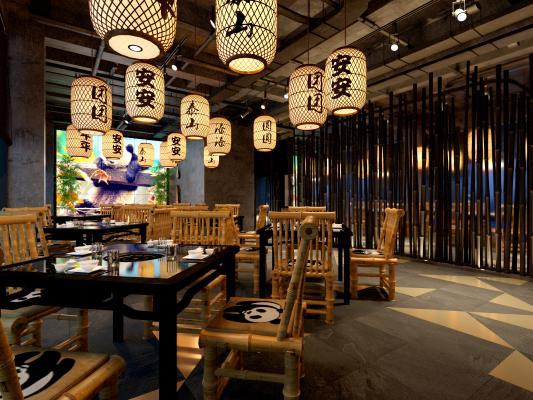 熊猫主题火锅餐厅