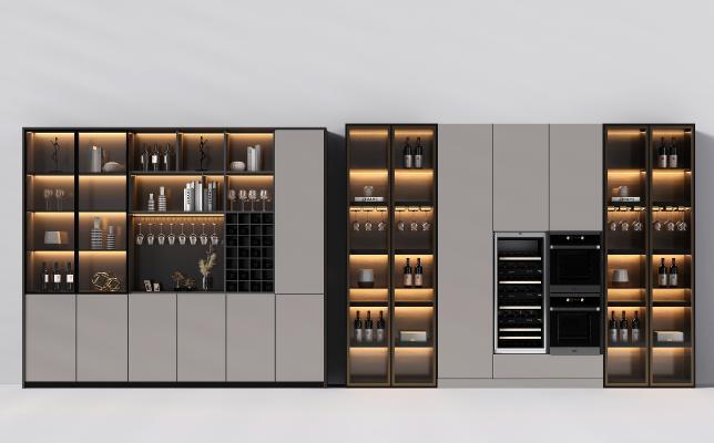 现代酒柜 酒柜组合 简约酒柜