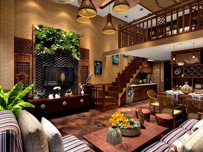 东南亚风格客厅 卧室