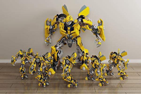 现代大黄蜂机器人 变形汽车