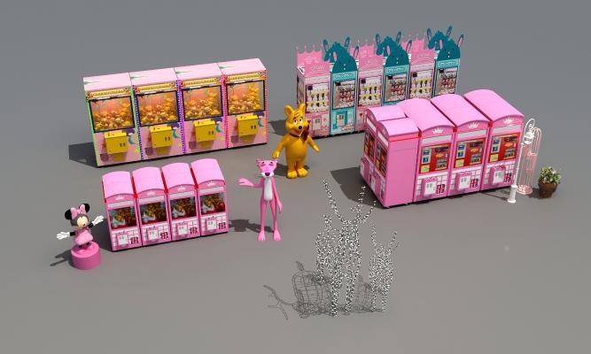 现代夹娃娃机游戏机