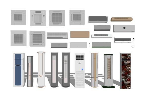 现代空调柜机出风口挂机1