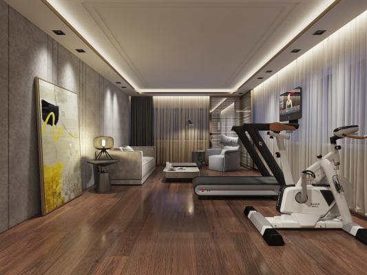 现代休闲健身房