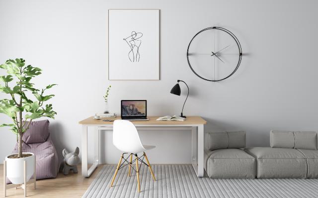 北欧书桌椅 懒人沙发 钟表
