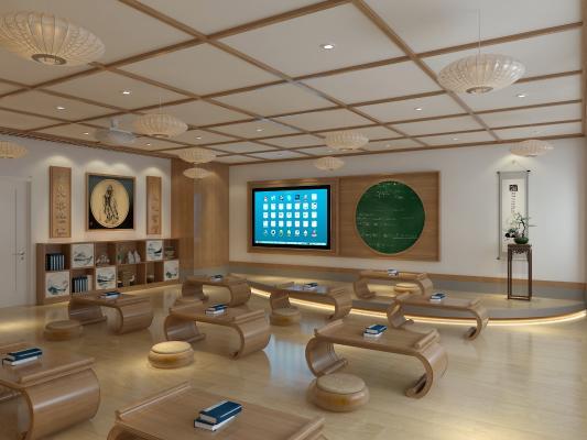 新中式风格学校 国学教室