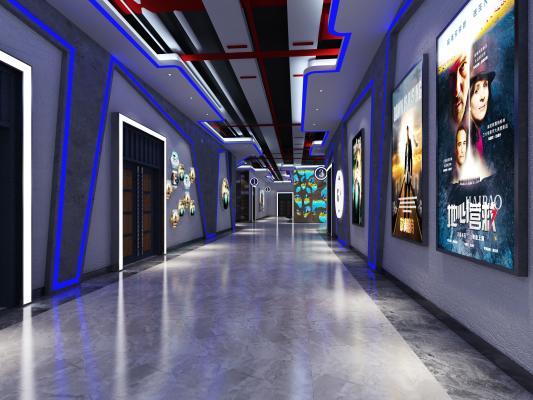 现代电影院走廊