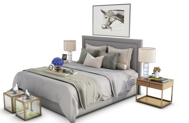 现代床具组合