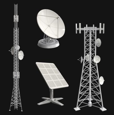 现代雷达 信号塔 卫星接收器