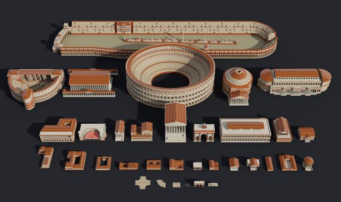 欧式简约古罗马建筑