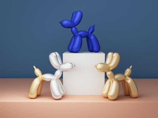 现代气球狗装饰 摆件 礼物