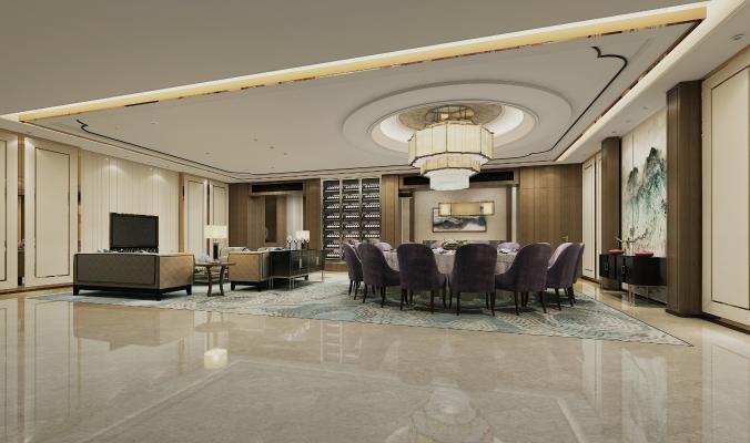 新中式风格包间 酒店