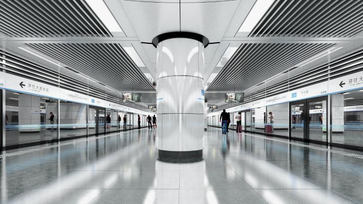 現代地鐵站臺