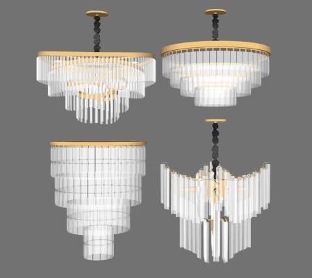 现代水晶吊灯 吊灯组合