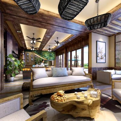 东南亚酒店大堂 餐厅