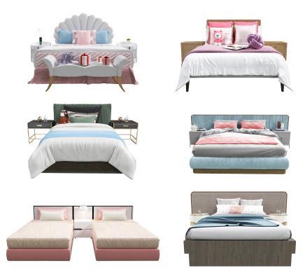 现代儿童床 床头柜