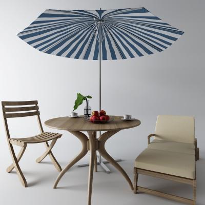 现代户外桌 太阳伞