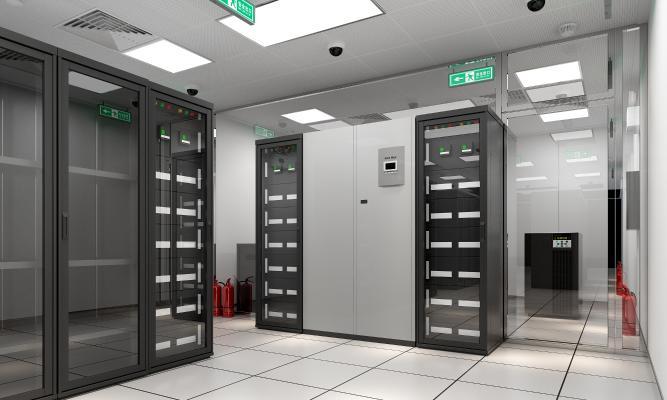 现代服务器 机房 设备间 机柜